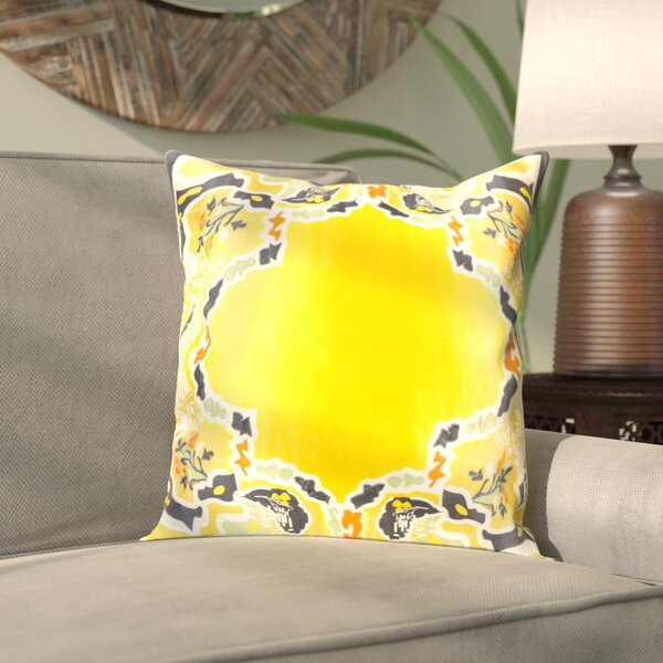 Alois 100% Silk Square Throw Pillow Cover by Bloomsbury Market